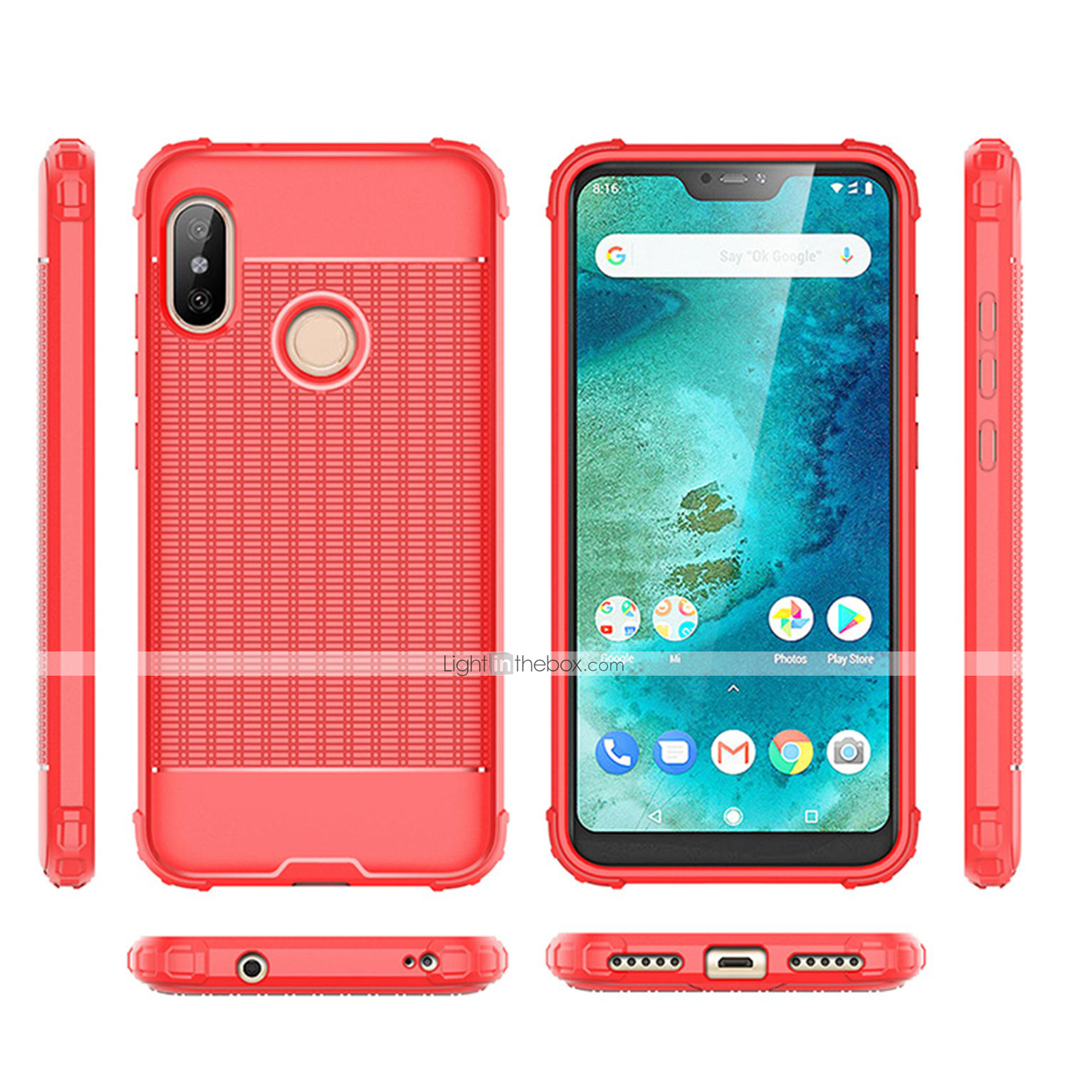 Case For Xiaomi Redmi Note 5 Pro / Xiaomi Redmi 6 Pro Shockproof Back Cover Solid Colored Soft TPU for Xiaomi Redmi Note 5 Pro / Xiaomi Redmi 6 Pro / Redmi ...