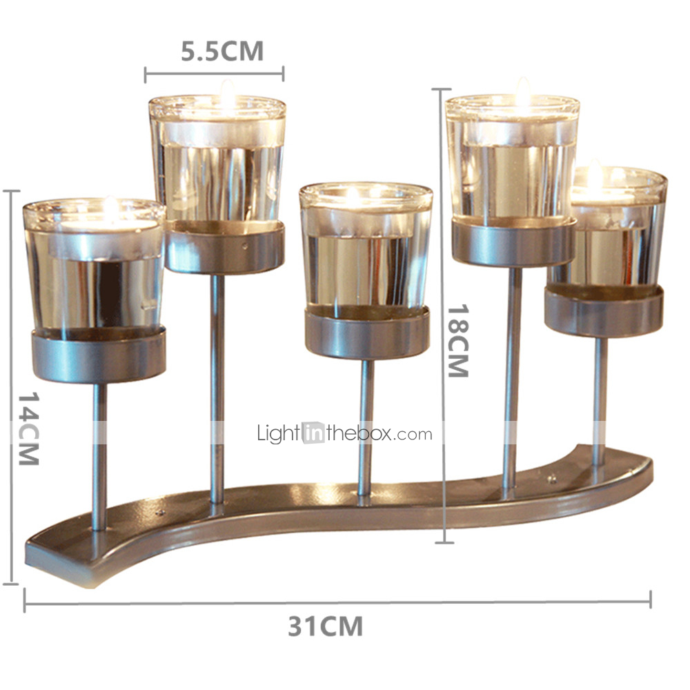 Modern Contemporary Simple Style Glasses Glass Iron Candle Holders Novelty Birthday Candlestick 1pc Holder 07146076