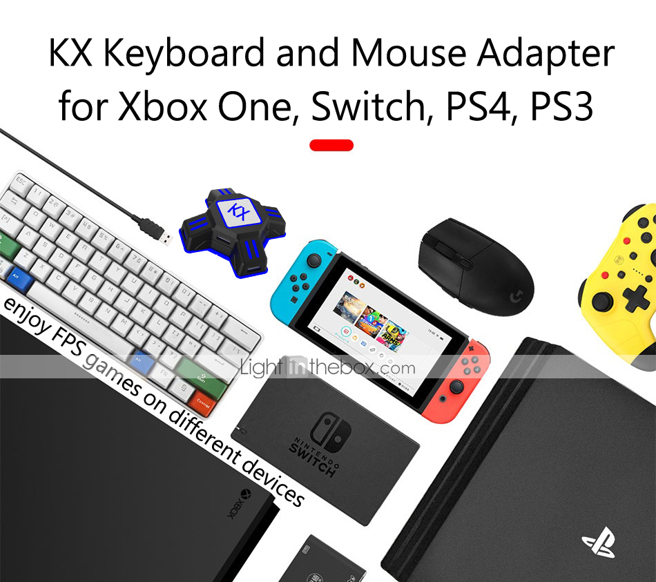 KX USB Game Controller Converter Keyboard Mouse Adapter for