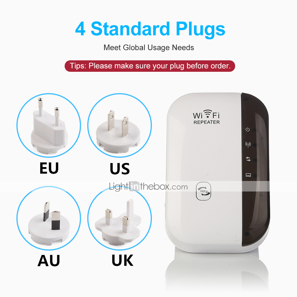 300Mbps Wifi Repeater 802.11 Router Wireless-N Extender Signal Booster Range TN