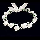 ieftine Bijuterii de Păr-Cristal / Material Textil / Spumă Diademe / Flori cu 1 Nuntă / Ocazie specială / Party / Seara Diadema