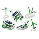 رخيصةأون مخففات التوتر-6 In 1 إنسان آلي لعبة سيارات ألعاب الطاقة الشمسية تعمل بالطاقة الشمسية بلاستيك ABS للصبيان للفتيات ألعاب هدية