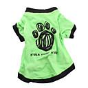 ieftine Moda Lolita-Câine Tricou Îmbrăcăminte Câini Respirabil Verde Costume Bumbac Literă & Număr Casul / Zilnic XS S M L
