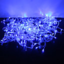 رخيصةأون ديكورات خشب-JIAWEN أضواء سلسلة 300 المصابيح تراجع LED أزرق عيد الميلاد الديكور الزفاف 1PC