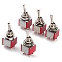 ieftine Accesorii-6p comutator de comutare pentru electronice di ac ac 250v 2a 120v 5a spdt on / off / on (5 bucăți un pachet)