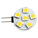 abordables Luces LED de Doble Pin-1 W Focos LED 150 lm G4 6 Cuentas LED SMD 5050 Blanco Cálido 12 V / #