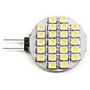رخيصةأون أقراط-2 W LED ضوء سبوت 6000 lm G4 24 الخرز LED مصلحة الارصاد الجوية 3528 أبيض طبيعي 12 V