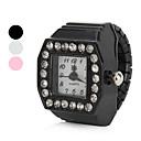 ieftine Ceasuri Damă-Pentru femei Ceas inel Diamond Watch Piața de ceas Japoneză Quartz Negru / Alb / Pink imitație de diamant femei Sclipici - Alb Negru Roz Un an Durată de Viaţă Baterie / SSUO SR626SW
