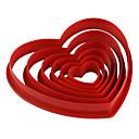 رخيصةأون أدوات الفرن-6PCS بلاستيك صديقة للبيئة عيد الحب اصنع بنفسك كعكة بسكويت فطيرة الخبز العفن أدوات خبز
