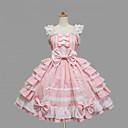 povoljno Lolita moda-Djevojčice Sweet Lolita Haljine Crn Pink Srednja dužina Pamuk Haljina Lolita Pribor