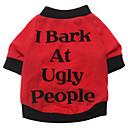 رخيصةأون مستلزمات وأغراض العناية بالكلاب-كلب T-skjorte ملابس الكلاب متنفس كوستيوم قطن مطبوعة بأحرف وأرقام XS S M L XL XXL