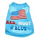 ieftine Carcase iPhone-Câine Tricou Îmbrăcăminte Câini Costume Bumbac American / USA Steag Național XS S M L