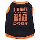 ieftine Inele-Câine Tricou Îmbrăcăminte Câini Respirabil Negru Costume Bumbac Literă & Număr XS S M L