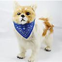 رخيصةأون أطواق ومقاود الكلاب-قط كلب باندانا الياقة قابل للسحبقابل للتعديل زهور جلد PU أحمر أخضر أزرق