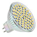 رخيصةأون لعب-3 W LED ضوء سبوت 250-350 lm GU5.3(MR16) MR16 60 الخرز LED مصلحة الارصاد الجوية 3528 أبيض دافئ 12 V