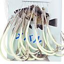 رخيصةأون أساور-الخطاف الليلية المضيئة للبحر-45CM الصيد مع الخط (30 جهاز كمبيوتر شخصى / حزمة) 12 # -15 # HQ002 (الاصفر)