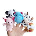 cheap Puppets-Finger Puppets Novelty Cartoon Plush Boys' Girls' Toy Gift 5 pcs