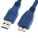 ieftine USB-uri-yongwei 0.3m 1ft un usb 3.0 masculin la micro USB 3.0 mascul albastru 0.3m