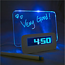 preiswerte Holzschmuck-Message Board Blue Light Digital Wecker mit 4 USB-Port-Hub 1pc (USB)