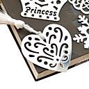 ieftine Ceasuri Damă-Gol-out în formă de inimă Tassel Metal Bookmark