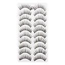 ieftine False Eyelashes-Geană Gene False 10 pcs Volum Mărit / Gros Geană Moale / Confecționat Manual / Negru Machiaj Cosmetic