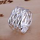 ieftine Inele-Pentru femei Band Ring Argintiu Argilă Aliaj femei Design Unic Deschis Nuntă Petrecere Bijuterii plaited Răsucit Ajustabil