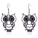 cheap Earrings-Women's Crystal Drop Earrings Owl Animal Crystal Silver Plated Earrings Jewelry Silver For Party Daily Casual