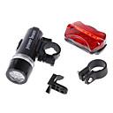 ieftine Instrumente Scris & Desen-LED Lumini de Bicicletă Lanterne LED Iluminat Bicicletă Față Iluminat Bicicletă Spate Ciclism montan Bicicletă Ciclism Rezistent la apă Siguranță Portabil Alarmă AAA 100 lm Camping / Cățărare / IPX-4