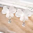 ieftine Broșe-Pentru femei Diamant sintetic Cercei Picătură Fluture Animal Ieftin femei Design Unic stil minimalist Ștras cercei Bijuterii Alb Pentru Petrecere Zilnic