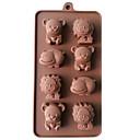 رخيصةأون أدوات الفرن-1PC سيليكون 3D اصنع بنفسك كعكة بسكويت فطيرة حيوان الخبز العفن أدوات خبز