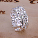 povoljno Prstenje-Žene Band Ring pljuska Ring prsten za palac Srebro Legura dame Neobično Jedinstven dizajn Vjenčanje Party Jewelry Prilagodljiv