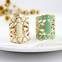 رخيصةأون قلادات-نسائي خاتم البيان أبيض أسود أخضر أكريليك سبيكة سيدات الآسيوي موضة مناسب للبس اليومي مجوهرات