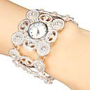 ieftine Ceasuri Damă-Pentru femei Ceasuri de lux Ceas Brățară Japoneză Quartz Negru / Argint / Auriu Gravură scobită Analog femei Sclipici Boem Modă Elegant - Auriu Negru Argintiu
