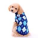 povoljno Odjeća za psa i dodaci-Pas Puloveri Zima Odjeća za psa Plava Kostim Woolen Plaid / Check Klasik Moda XS S M L XL
