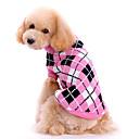 ieftine Imbracaminte & Accesorii Căței-Câine Pulovere Iarnă Îmbrăcăminte Câini Roz Costume De Lână Tartan / Carouri Keep Warm XS S M L XL