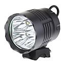 ieftine Lumini & Reflectorizante-Frontale Lumini de Bicicletă 3200 lm LED LED 4 emițători 3 Mod Zbor Mască exterioară lanternă Camping / Cățărare / Speologie Ciclism Pescuit / Aliaj de Aluminiu