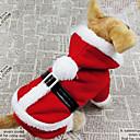ieftine Pungi & Cutii-Câine Costume Haine Hanorace cu Glugă Iarnă Îmbrăcăminte Câini Respirabil Rosu Costume Bumbac Mată Cosplay Crăciun S M L XL XXL