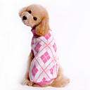 povoljno Odjeća za psa i dodaci-Pas Puloveri Zima Odjeća za psa Plava Pink Kostim Woolen Plaid / Check XS S M L XL