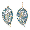 cheap Earrings-Women's Drop Earrings Hollow Out Leaf Ladies Earrings Jewelry For Daily