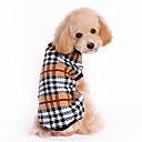 رخيصةأون ملابس وإكسسوارات الكلاب-قط كلب البلوزات الشتاء ملابس الكلاب بني كوستيوم هاسكي لابرادور كلب البلدغ الصوفية Plaid / Check كلاسيكي الدفء XS S M L XL