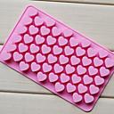 رخيصةأون أدوات الفرن-55 ثقوب غير عصا سيليكون كعكة الشوكولاته الحب على شكل قلب قالب خبز الخبز جيلي قالب الثلج القلب
