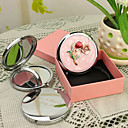 ieftine Pahare Personalizate-Personalizate cadouri Blossom Stil Pink Chrome Compact Mirror