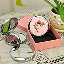 ieftine Ceasuri Personalizate-Personalizate cadouri Blossom Stil Pink Chrome Compact Mirror