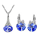 Crystal Crystal Austria Crystal Jewelry Set Include Earrings Necklaces - Crystal Austria Crystal Alloy Jewelry Set Party Daily Casual