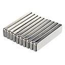 ieftine Accesorii-20 x 5 x 2 mm puternic NdFeB magneți - argint (10 PCS)