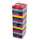 olcso Társasjátékok-48PCS Szórakoztató Colors faanyag Jenga blokk játék Toy Set 2 Kockák
