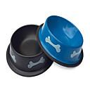 ieftine Îngrijire Unghii-Bones oțel inoxidabil model Bowl pentru animale Caini (asortate culori)