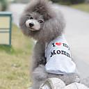 رخيصةأون ملابس وإكسسوارات الكلاب-قط كلب T-skjorte ملابس الكلاب متنفس رمادي كوستيوم قطن قلب عيد ميلاد كاجوال / يومي XS S M L XL XXL