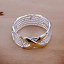 ieftine Inele-Pentru femei Band Ring Inel de declarație Auriu Argilă Circle Shape Geometric Shape femei European Petrecere Zilnic Bijuterii X prsten