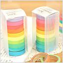 ieftine Papetărie-colorate curcubeu design tapes (set de 10) pentru școală / birou